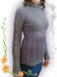 пуловер из кос вязать спицами. облегающий пуловер С воланами и косами...