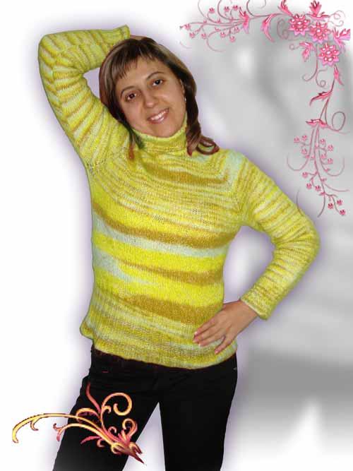 Предлагаемым способом можно связать жакет, свитер или джемпер.